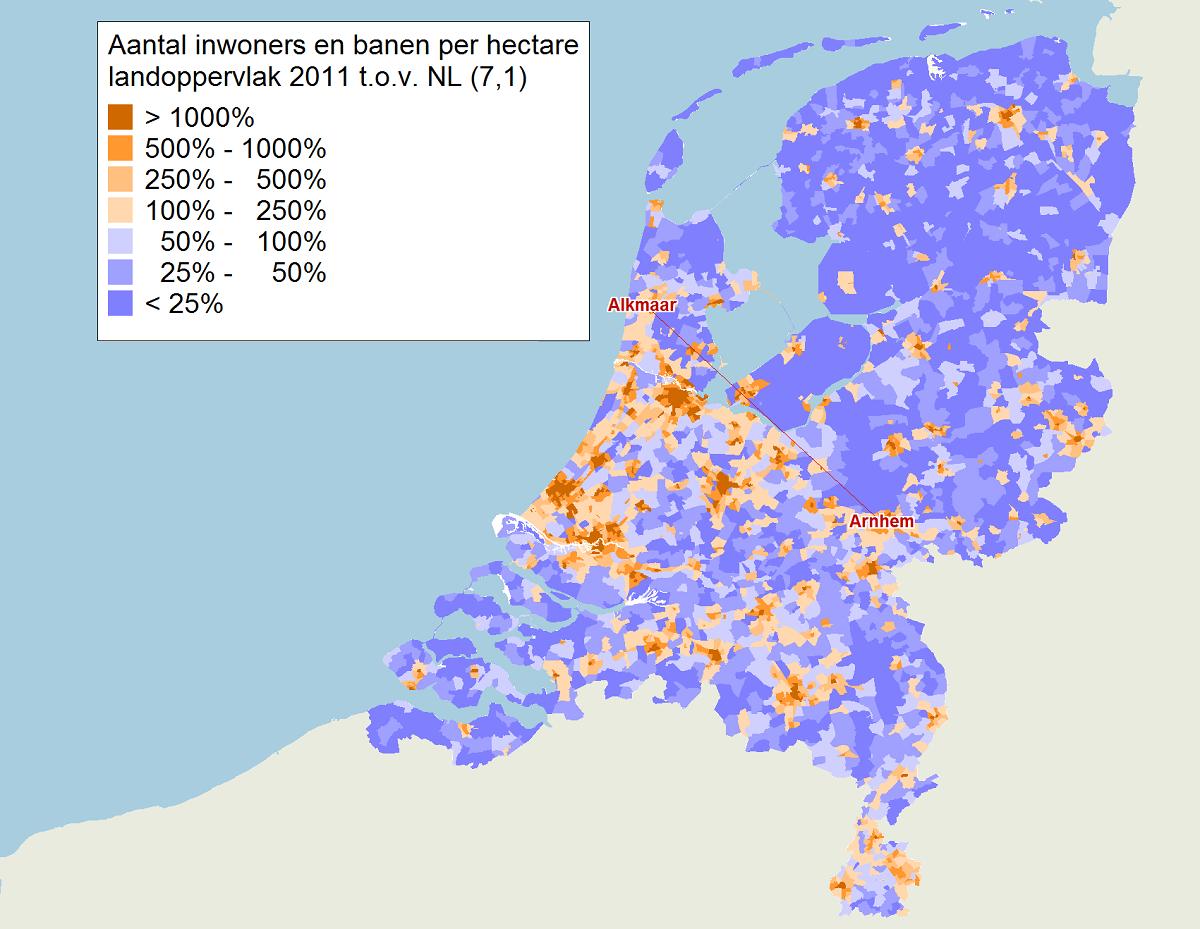 Oplichtende en uitdovende sterren: Nederlandse steden in ...